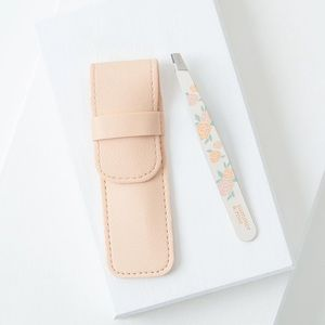 Summer and Rose Tweezers with Carrying Case Pouch